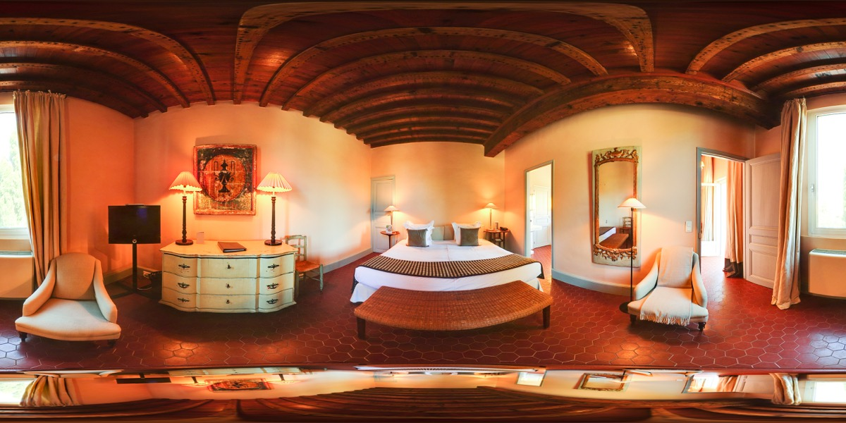 Vidéo 360 hôtel vue d'une chambre